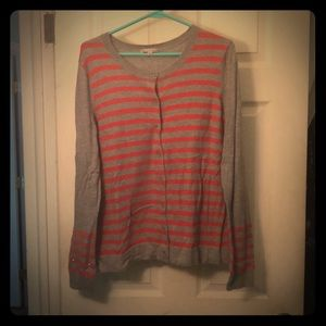 Gray with red stripes GAP cardigan